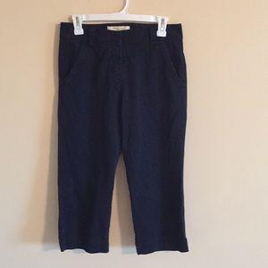 J.Crew Chino Crop Pants ~ Navy ~ Size 0